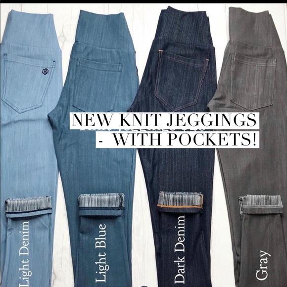 d1b56ed81dbf7 Agnes & Dora Pants | New Agnes Dora Knit Jeggings | Poshmark